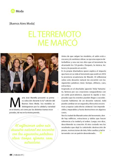 Mantilla en Revista Sembrar Valores